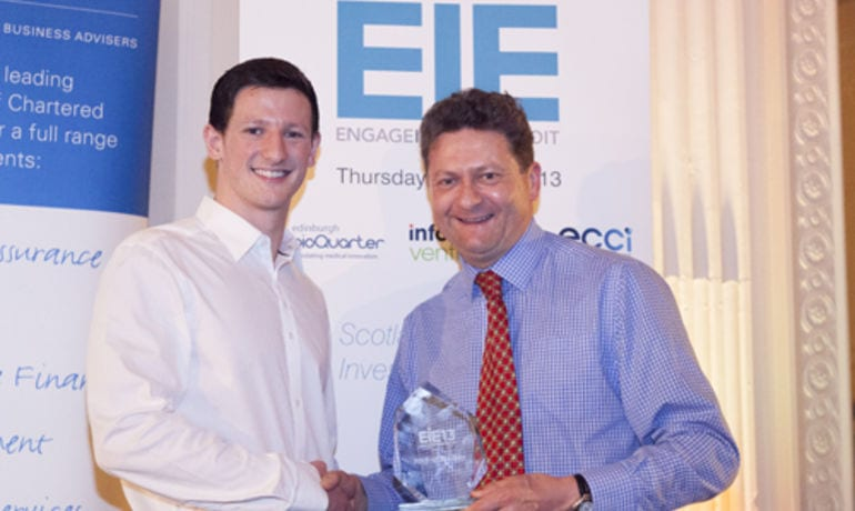 Mark Simmers (CEO) wins EIE'13 'Best Investor Presentation' Award